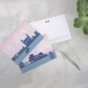 London Architectural Postcard Set - drawings & illustrations