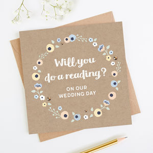 Will You Do A Reading Wedding Card