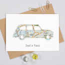 Personalised Fathers Day Map Dads Taxi Card