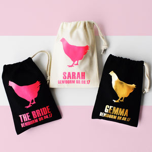 Personalised Hen Party Bags, Big Hen