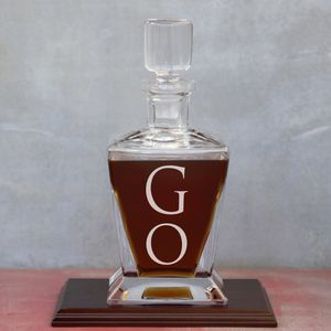 Monogram Crown Decanter - drink & barware