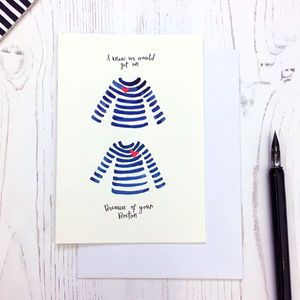 Get On Breton Friendship Card - blank cards