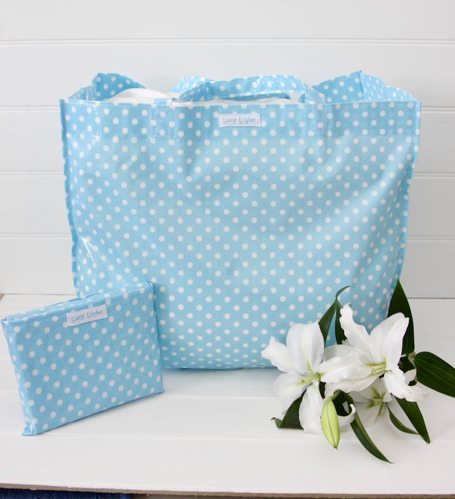 extra large foldaway shopping bag by lucy lilybet ...