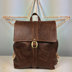 Handcrafted Brown Leather Backpack - new in fashion