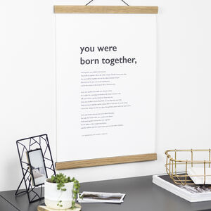 Personalised Print Using Your Poem Or Reading