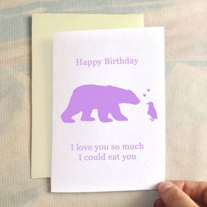 Personalised Birthday Bear Birthday Card