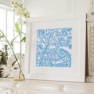 Balham, London Framed Illustrated Map Print