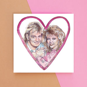 Scott And Charlene Greetings Card