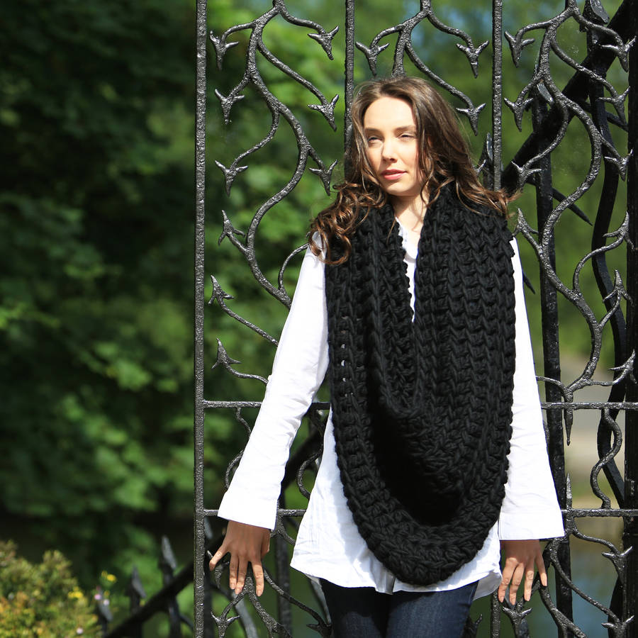 oversized snood crochet kit by wool couture | notonthehighstreet.com