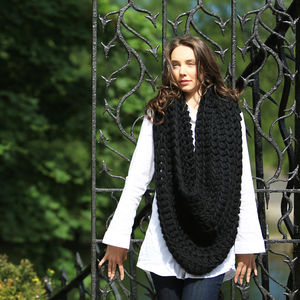 Diy Crochet Infinity Scarf Snood Knit Kit