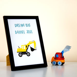 Dream Big Personalised Bedroom Framed Print