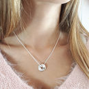 Brighton Beach Torus Silver Necklace