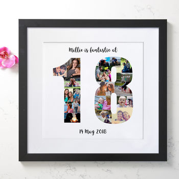 Personalised 18th Birthday Photo Collage