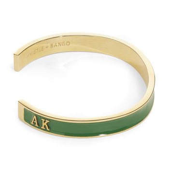 Gold Personalised Men's Cuff 18ct Gold