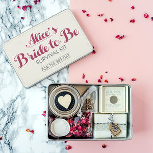 Personalised 'Bride To Be' Survival Kit - keepsake boxes