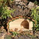 Hedgehog House With Bark Roof