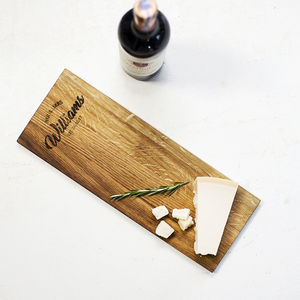 Personalised Wooden Cheese Serving Board