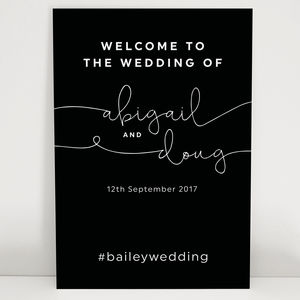 Kate Wedding Welcome Sign - outdoor decorations