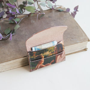 Personalised Photo Leather Card Holder - whats new