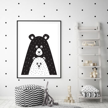 'Bear Family' Art Print