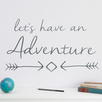 'Let's Have An Adventure' Wall Sticker