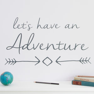 'Let's Have An Adventure' Wall Sticker - wall stickers