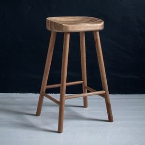 Weathered Oak Bar Stool