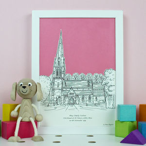 Christening Venue Illustrations - modern christening gifts