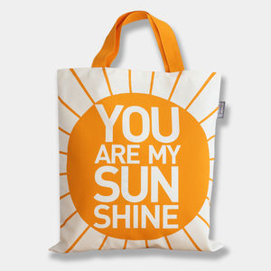 'You Are My Sunshine' Tote Bag - baby's room