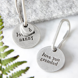 'Love You' Grandparent Keyring - winter sale