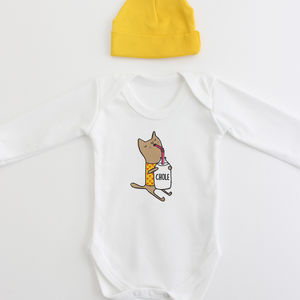 Organic Cotton Cat New Baby Personalised Gift Set