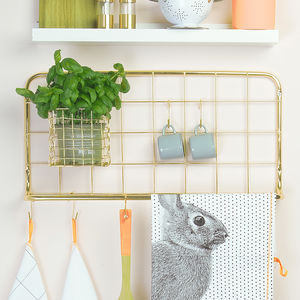 Gold Kitchen Hook Rack - kitchen