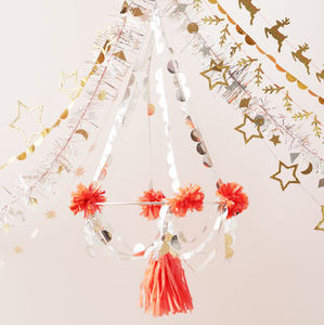 Hanging Paper Party Chandelier - decoration