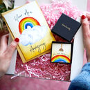 You Are Amazing Rainbow Necklace Letterbox Gift