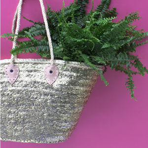 Sequin Rope Basket - bags & purses