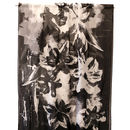 Black and white brushstroke panel