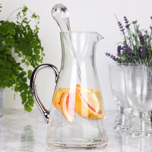 Glass Handled Serving Jug With Stirrer