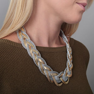 Plaited Two Tone Necklace - necklaces & pendants