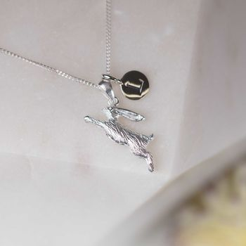 Personalised Jumping Rabbit Pendant