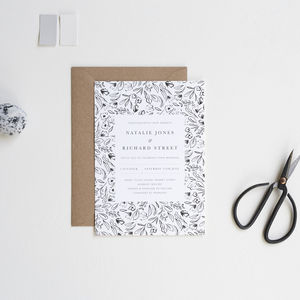 Matisse Monochrome Wedding Invitations - invitations