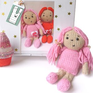 Personalised Dolly Knitting Craft Kit
