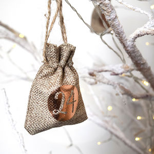 Christmas Advent Calendar Tree Hanging Sacks - advent calendars