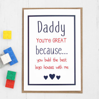 Personalised 'You're Great' Card For Dad