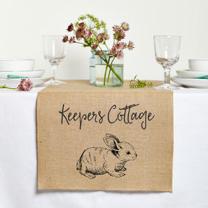 Personalised Easter Table Runner - table linen