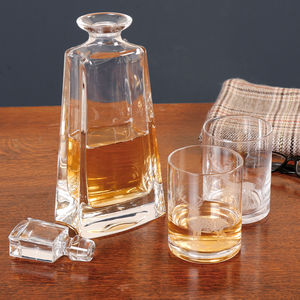 Gent's Malt Decanter And Stag Whisky Glass Gift Set - tableware