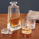 Gent's Malt Decanter And Stag Whisky Glass Gift Set