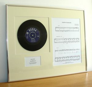 Framed Original Vinyl Record And Sheet Music - rock star