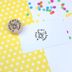 Child's Artwork Personalised Rubber Stamp - diy & craft