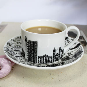 West London Tea Cup And Saucer Set