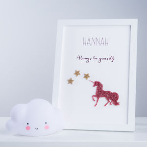 Personalised Unicorn Name Framed Print - new in home